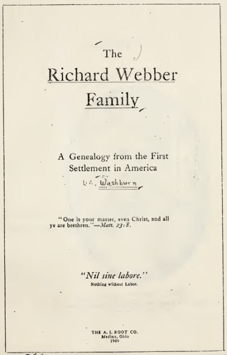 Richard Webber Family Title Page.PNG