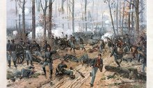 Painting of the Battle of Shiloh