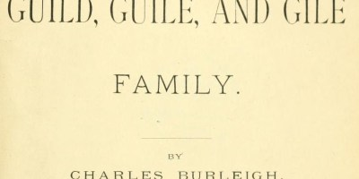 Title page of Burleigh's Gile Genealogy