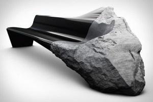 Un fósil convertido sofá