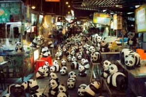 El arte se une a la protección de los pandas