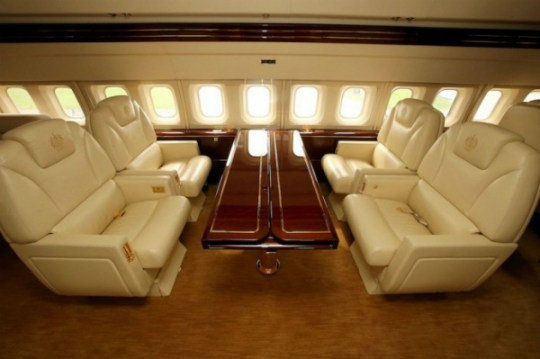 Conoce el avión privado de Donald Trump por dentro - Los-interiores-son-espectaculares