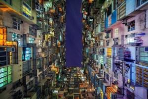 Hong Kong visto verticalmente