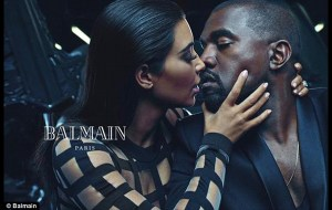 Kim Kardashian y Kanye West para Balmain