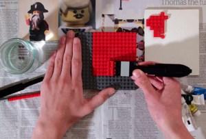 Una pintura hecha ¡con Legos!