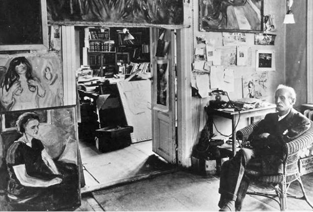 10 famosos artistas en su estudio creativo - Studio-Edvard-Munch