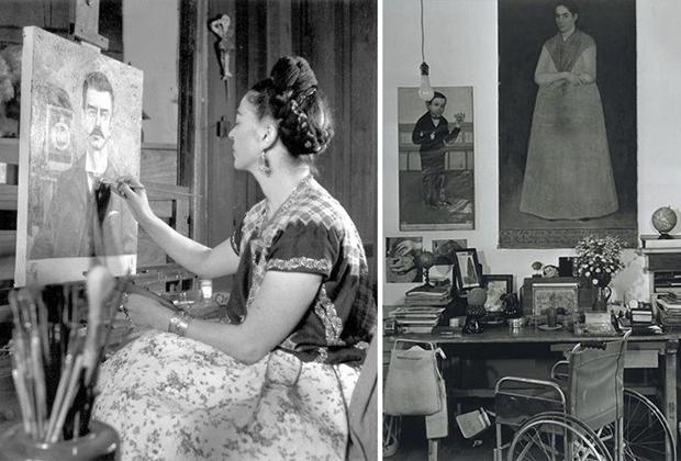 10 famosos artistas en su estudio creativo - Studio-Frida-Kahlo