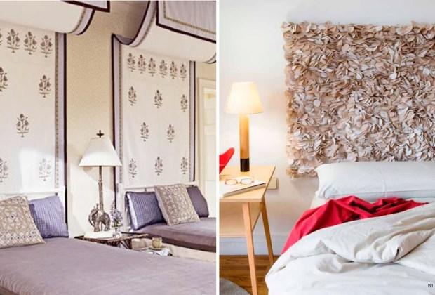 6 alternativas para una cabecera de cama original - Tapete-cabecera-1024x694