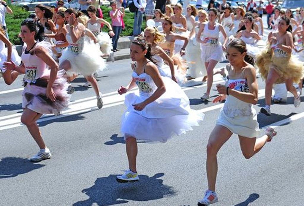 ¡A correr se ha dicho! Las 11 carreras más cool del mundo - carrera-novias