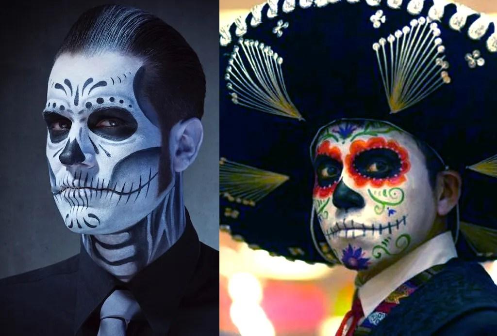 Los mejores make-ups de CATRINA - hombre-catrin-maquillaje