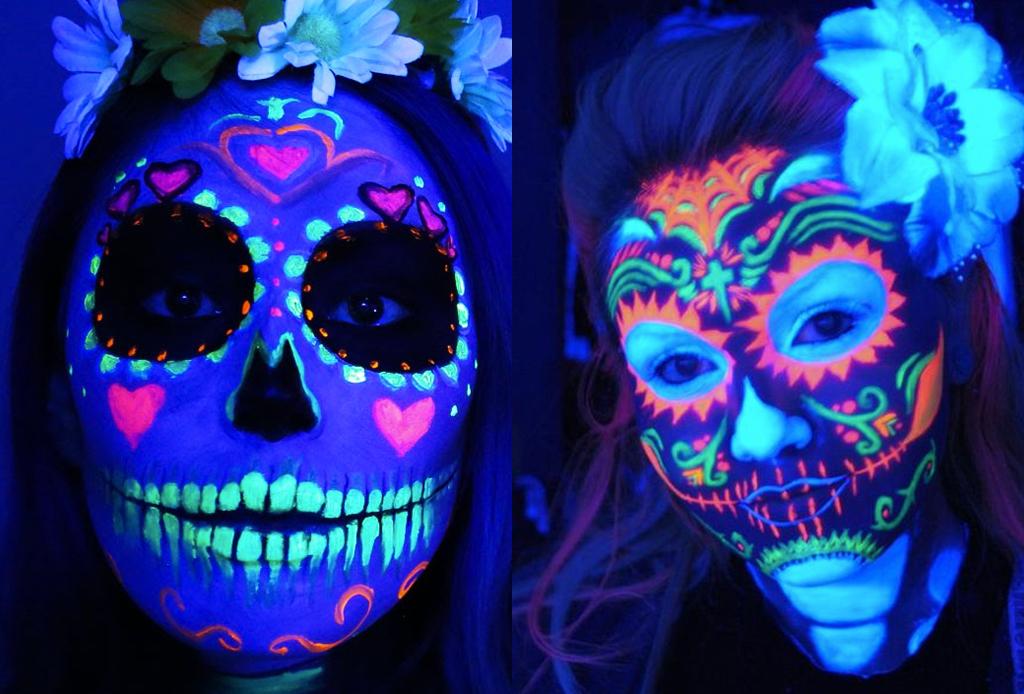 Los mejores make-ups de CATRINA - maquillaje-catrina-brilla-oscuridad