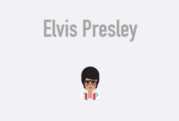 Así se verían tus músicos favoritos si fueran emojis - elvis-presley-1024x694
