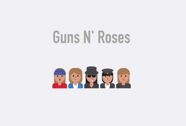 Así se verían tus músicos favoritos si fueran emojis - guns-n-roses-1024x694
