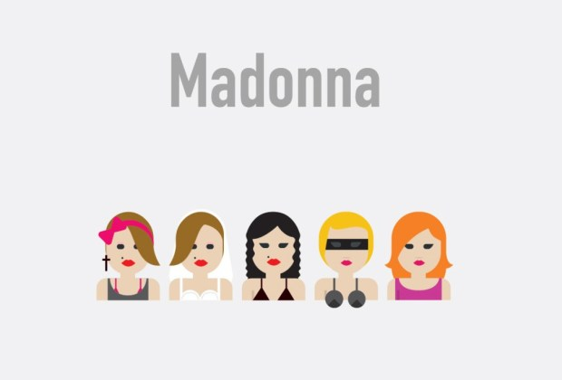 Así se verían tus músicos favoritos si fueran emojis - madonna1-1024x694