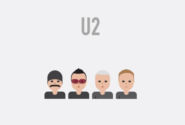 Así se verían tus músicos favoritos si fueran emojis - u2-1024x694