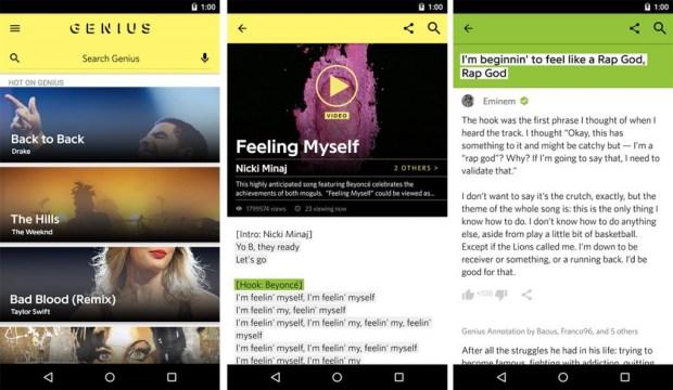 Las 8 mejores apps para descubrir música - genius-app-1024x595