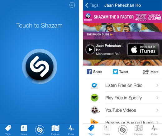 Las 8 mejores apps para descubrir música - shazam-app