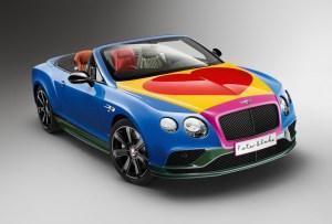 Dale a un vistazo al Bentley más colorido de la historia