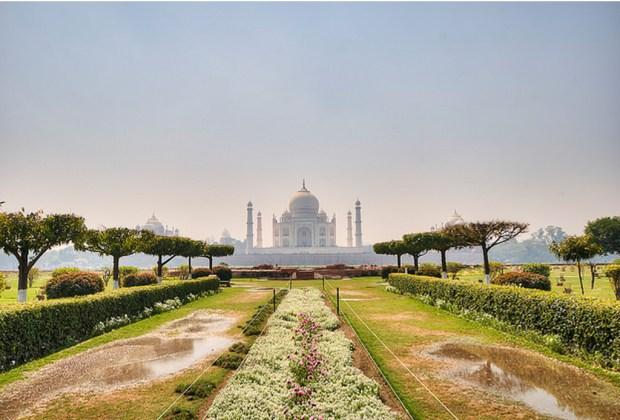10 datos del Taj Mahal que probablemente no conocías - jardin-1024x694