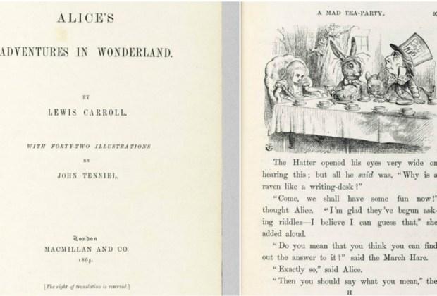 El libro más caro para niños será subastado - lewiscarroll2-1024x694