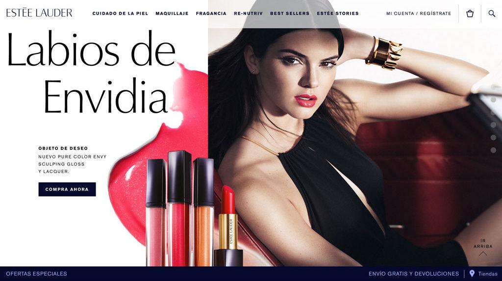 Estée Lauder nos presenta su nueva tienda online en México - estee-lauder-pagina-2-e1468601055298