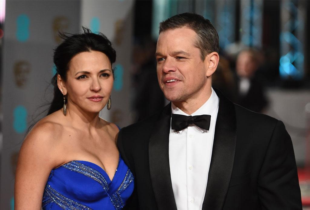 10 famosos que se casaron con personas fuera de la industria del entretenimiento - matt-damon