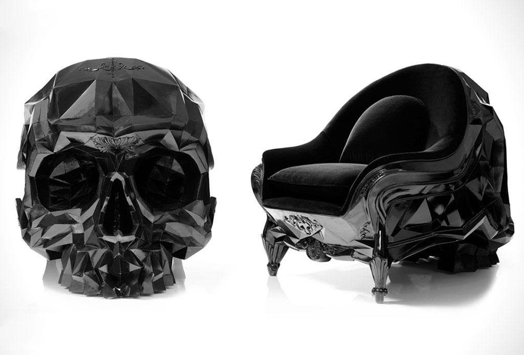 5 exclusivos muebles con un diseño de terror - skull-chair