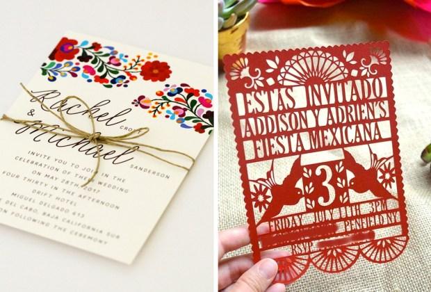10 tips para decorar una boda con espíritu mexicano - boda-mexicana-invitaciones-1024x694