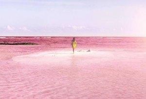 México tiene el lugar favorito de Instagram: un lago color ¡ROSA!