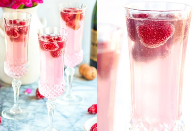 3 cocteles preparados con vino espumoso para estas fiestas - raspberry-lemon-mimosa-1024x694
