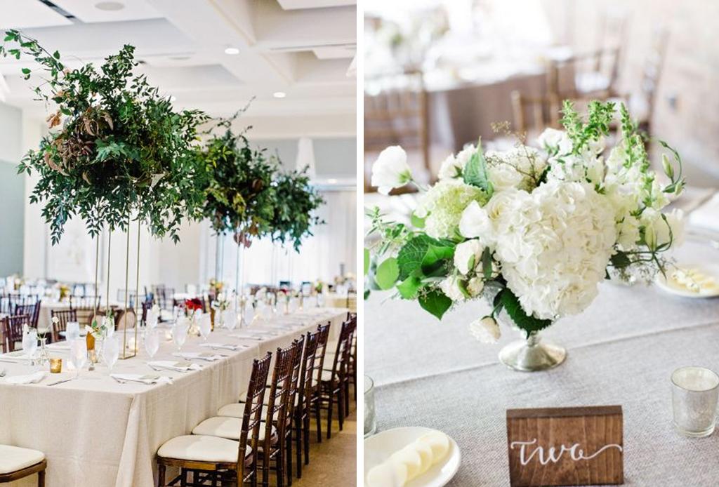 Las ltimas tendencias para centros de mesa para bodas
