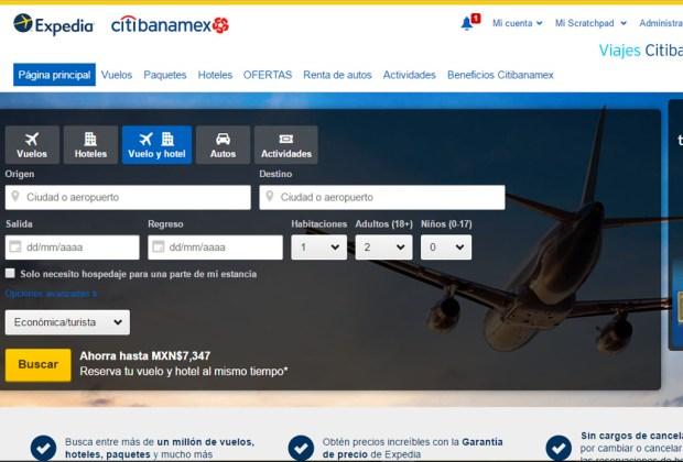 Una nueva plataforma de viajes te espera - citibanamex-expedia-online-1024x694