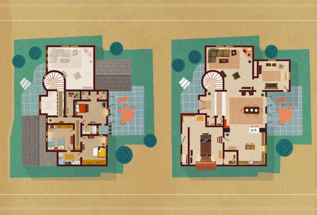 Así se ven los planos arquitectónicos de los departamentos más famosos de las series - plano-arrested-develop