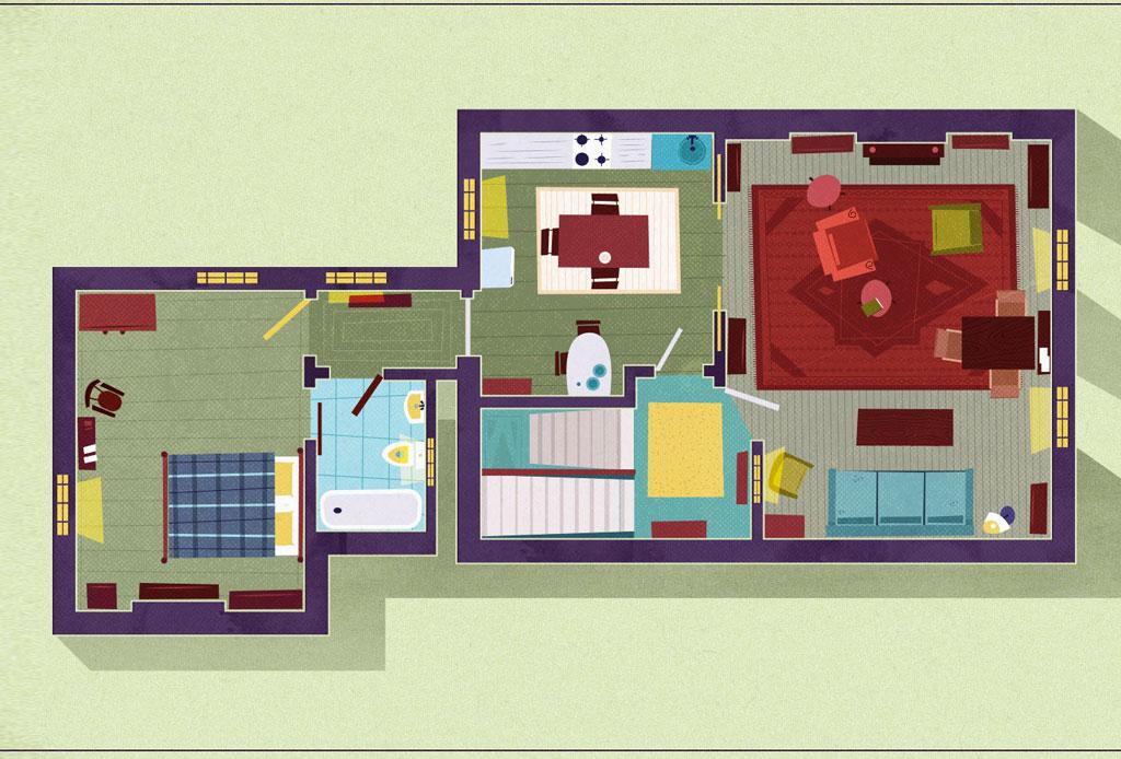 Así se ven los planos arquitectónicos de los departamentos más famosos de las series - sherlock