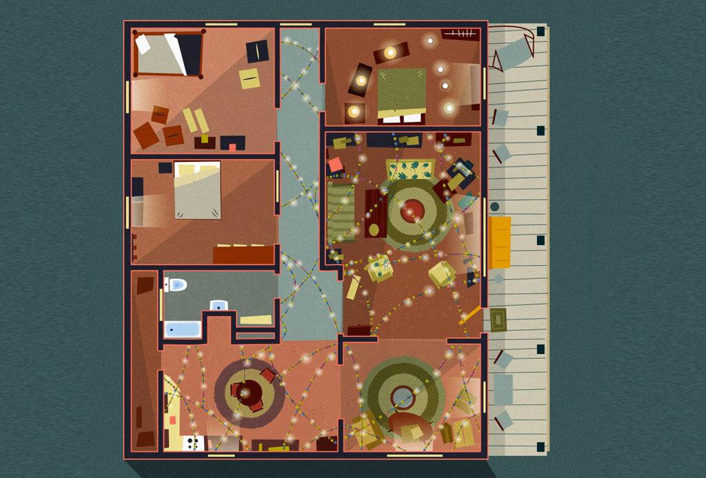 Así se ven los planos arquitectónicos de los departamentos más famosos de las series - stranger-things