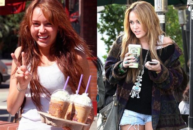 Famosos que son adictos al café - miley-1024x694