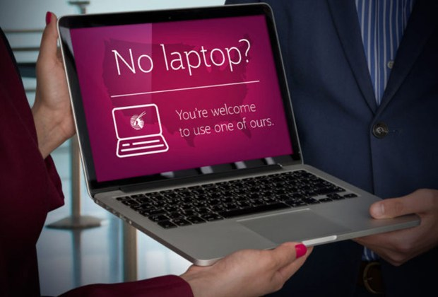 Qatar Airways te prestará MacBooks durante el vuelo - qatar-1024x694