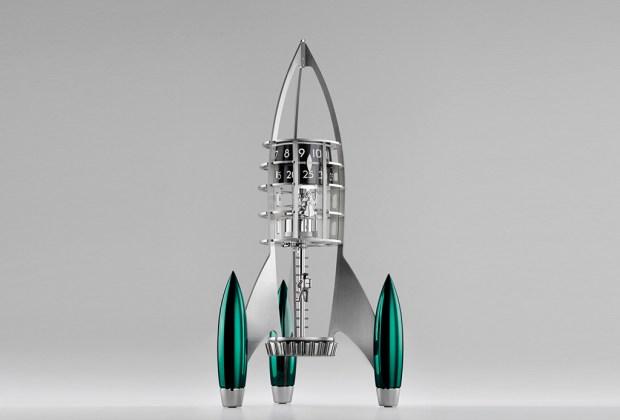 Destination Moon: el reloj que tiene forma de cohete - verde-1-1024x694