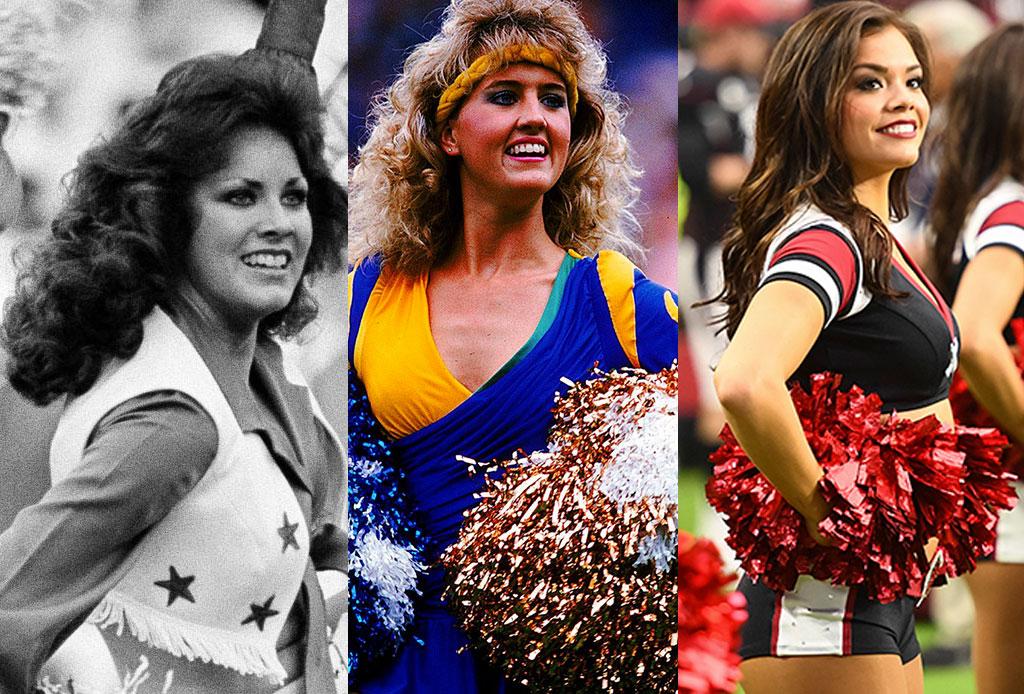 La evolución de los uniformes de porristas de la NFL