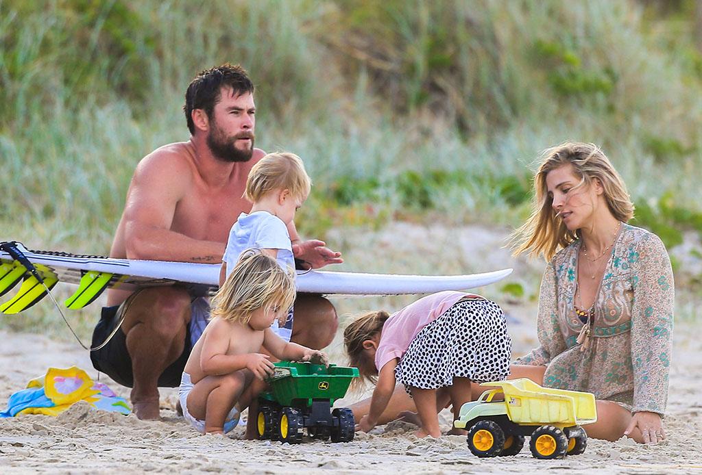 Los mejores momentos de Chris Hemsworth como papá