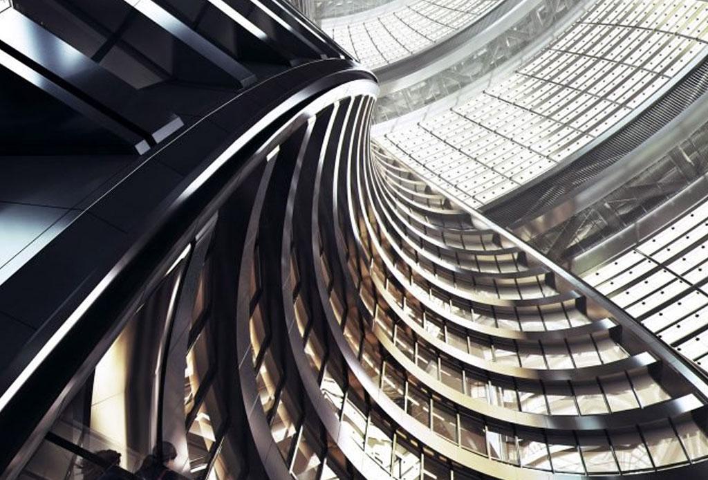 El nuevo atrio más alto del mundo es obra de Zaha Hadid - atrio-zaha-hadid-3