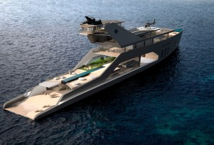 Este yate tendrá su propia 'playa' privada