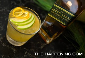 Así se prepara un Johnnie Cider con Johnnie Walker Green Label