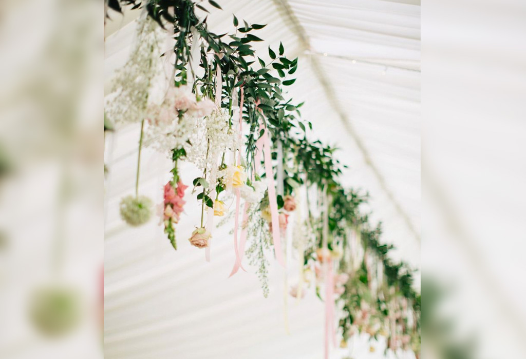 Tendencia en flores para bodas durante la primavera/verano - girnaldas