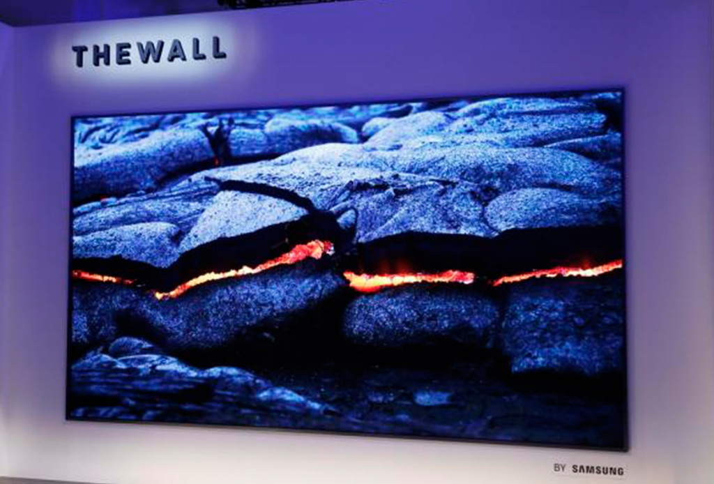 The Wall, una pantalla de Samsung que es del tamaño de una pared