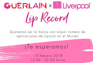 Guinness World Record Guerlain: labios pintados