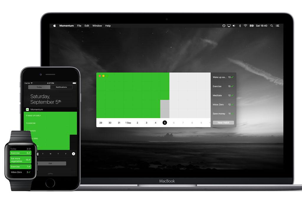 Momentum: la app que registra todos tus hábitos - momentum_app