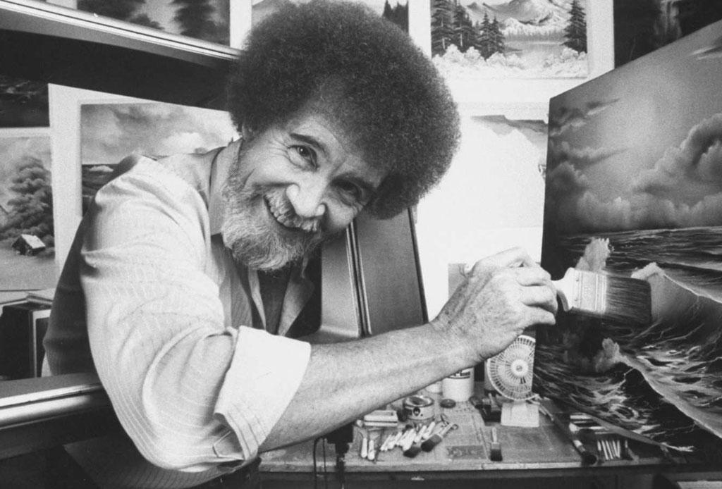 ¿Te acuerdas del pintor Bob Ross? Seguramente no sabías estos datos curiosos - bob-ross-04