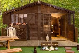 Ahora puedes hospedarte en una cabaña ¡hecha de chocolate!