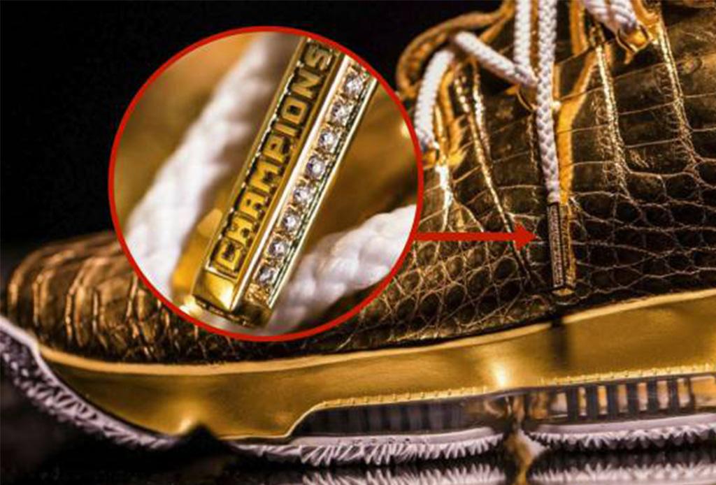 Esta tienda en Los Ángeles creó unos tenis de oro para LeBron James - lebron3